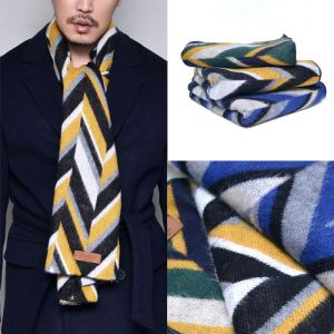 Lux Pattern Wool Fleece-Scarf 44