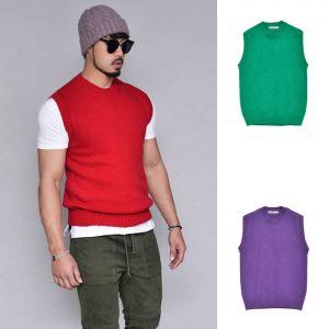 Wool Cashmere Slim Vest-Vest 153