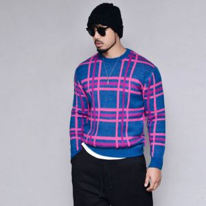 Classy Check Sweater-Knit 242