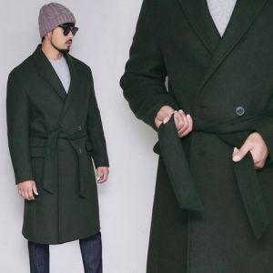 Premium Wool Belted Robe Coat-Coat 160