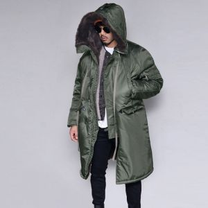 Full Fur Lined Military Long Bomber-Parka 103