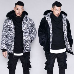 Reversible Leopard & Full Fur Padding-Parka 104