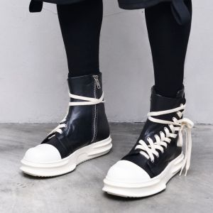 Rick Diagonal Leather Hightop-Shoes 780