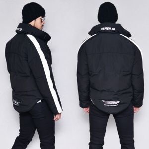 Striped Unbalance Down Padding-Parka 106