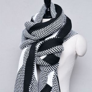 Extra Long Jacquard Knit-Scarf 50