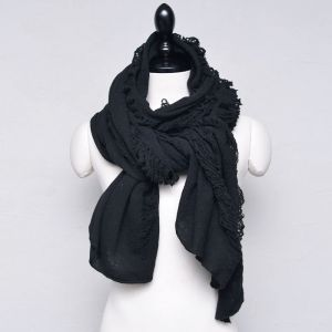 Avant-garde Damaged Wool Knit-Scarf 51