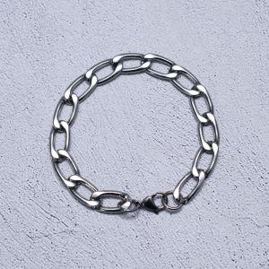 Minimal Steel Chain Cuff-Bracelet 485