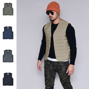 Slim Fit Padding Vest-Vest 157