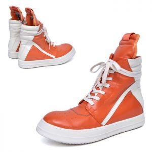 Orange Boxer Hightop Leather-Shoes 783