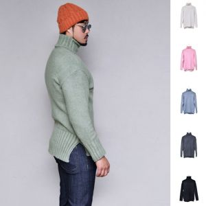 Thick Warm Unbalance Turtle-Knit 243