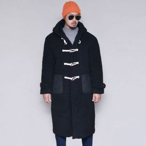 Shearling Hooded Duffle-Coat 163