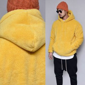Extra Thick Shearling Pullover-Hoodie 323