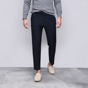 Sleek Urban Fleece Ankle Slacks-Pants 515