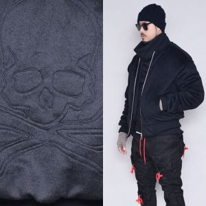 Loose Fit Skull Fur Jumper-Jacket 388