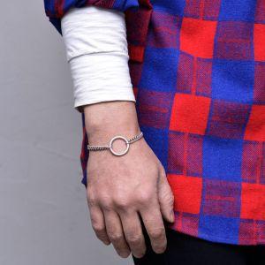 Vintage Ring Chain Cuff-Bracelet 486