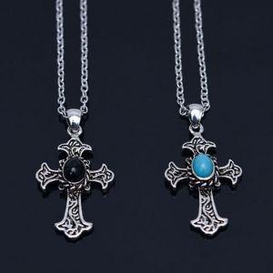 Dragon Gemstone Cross-Necklace 378