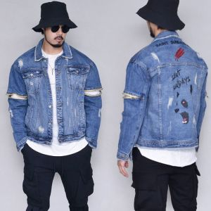 Vintage Zip Arm Swag Denim-Jacket 393