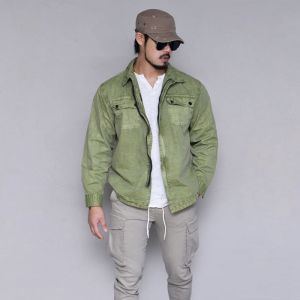 Stone Pigment Shirt Jacket-Jacket 397