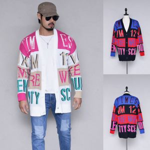Colorful Funky Knit Jacket-Cardigan 298