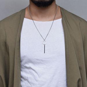 Minimal Edge Ring Stick-Necklace 381