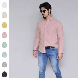 Bio Washing Pastel Linen-Shirt 291