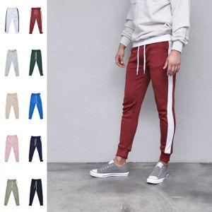 Contrast Line Slim Jogger-Sweatpants 425