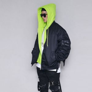 Hood Layered Street Jumper-Jacket 399