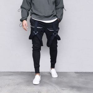 Triangle Buckle Cargo Jogger-Pants 553