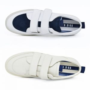 Double Velcro Leather Sneakers-Shoes 803
