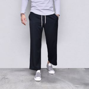 Wide Crop Banding Slacks-Pants 564