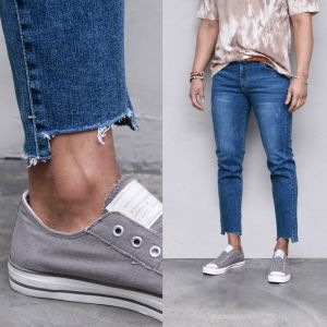 Stretchy Unbalance Ankle-Jeans 548