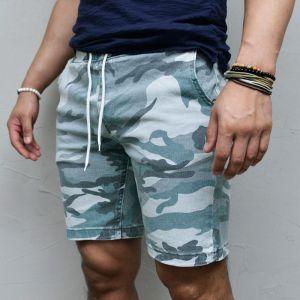 Ice Camouflage Slim Banding-Shorts 225