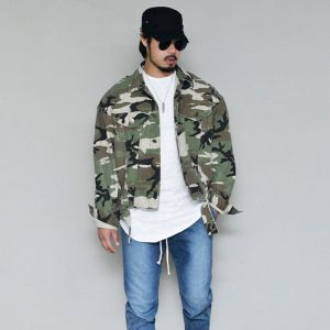 Destroyed Loose Fit Camouflage-Jacket 405