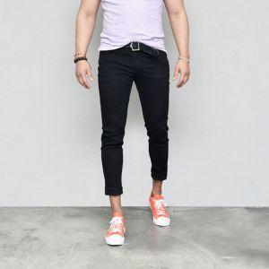Super Stretchy Slim Black-Jeans 555