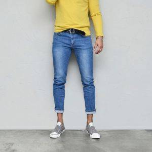 Stretchy Low-rise Slim Blue-Jeans 556