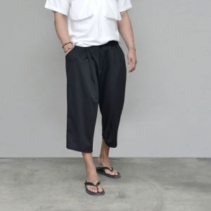 Crop Banding Baggy Wide-Pants 575