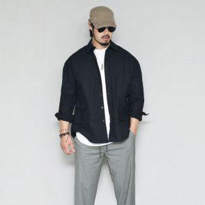 Relaxed Fit Outpocket Linen-Shirt 294
