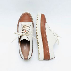 Chunky Sole Leather Sneakers-Shoes 810