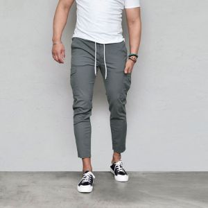 Light-weight Stretchy Slim Cargo-Pants 579