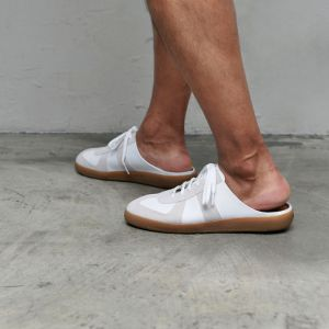 Backless Leather Sneakers-Shoes 808