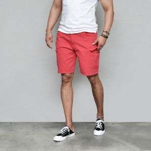 Washing Soft Half Banding Cargo-Shorts 242