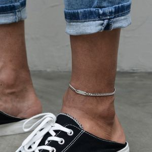 Sleek Modern Metal Anklet-Anklet 18