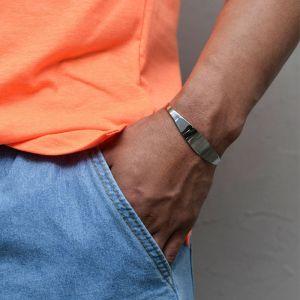Classy Steel Bangle-Bracelet 490