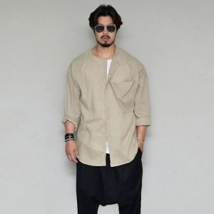 Avant-garde Big Pocket Linen-Shirt 296