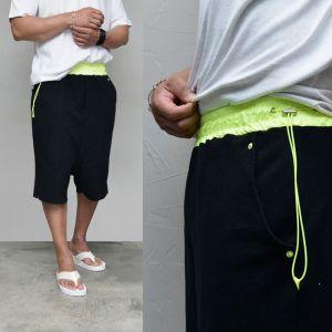 Neon String Waist Baggy-Shorts 252