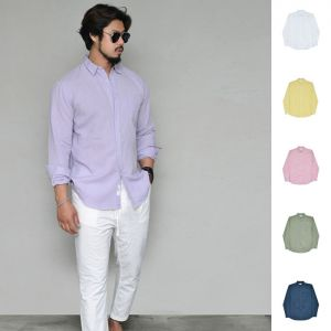 Daily Basic Linen Button Down-Shirt 298