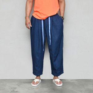 Wide Denim Baggy Crop-Jeans 562