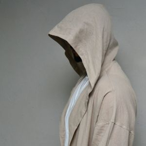 Wizard Loose Fit Linen Long-Coat 170