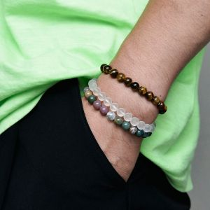 7 Color Elastic Gemstone Beads-Bracelet 504