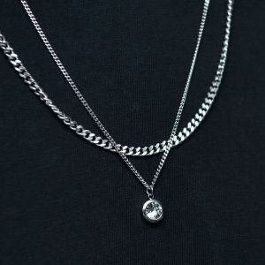 Double Lace Set Cubic-Necklace 506